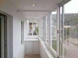 застекление балкона аллюминиевой конструкцией купе