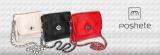 Женские сумка торговой марки Poshete- натуральная кожа, все 3 цвета в наличии
